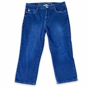 Belle Du Jour Stretch Capri Jeans Size 14 Cropped